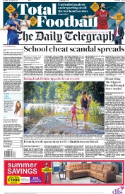 The Daily Telegraph (UK) Newspaper Front Page for 28 August 2017