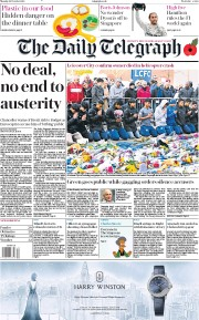 The Daily Telegraph (UK) Newspaper Front Page for 29 October 2018