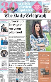 The Daily Telegraph (UK) Newspaper Front Page for 29 April 2017