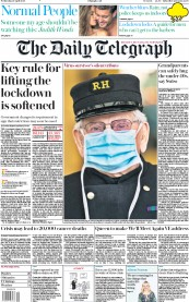 The Daily Telegraph (UK) Newspaper Front Page for 29 April 2020