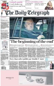 The Daily Telegraph (UK) Newspaper Front Page for 29 June 2017
