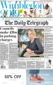 The Daily Telegraph (UK) Newspaper Front Page for 29 June 2019