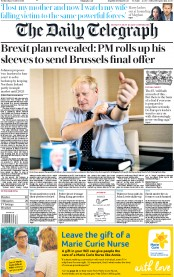 The Daily Telegraph (UK) Newspaper Front Page for 2 October 2019