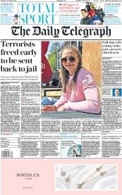 The Daily Telegraph (UK) Newspaper Front Page for 2 December 2019