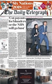 The Daily Telegraph (UK) Newspaper Front Page for 2 February 2018