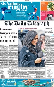 The Daily Telegraph (UK) Newspaper Front Page for 2 February 2019