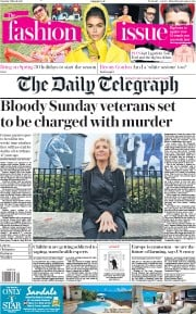 The Daily Telegraph () Newspaper Front Page for 2 March 2019