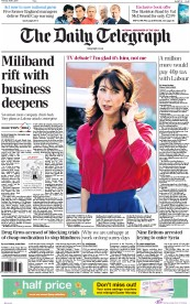 The Daily Telegraph (UK) Newspaper Front Page for 2 April 2015