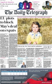 The Daily Telegraph (UK) Newspaper Front Page for 2 May 2017