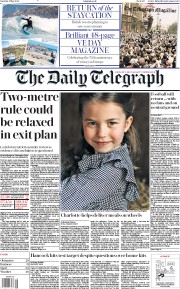 The Daily Telegraph (UK) Newspaper Front Page for 2 May 2020