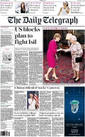 The Daily Telegraph (UK) Newspaper Front Page for 2 July 2015