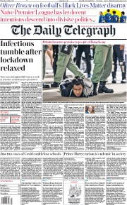 The Daily Telegraph front page for 2 July 2020