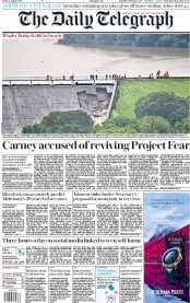 The Daily Telegraph (UK) Newspaper Front Page for 2 August 2019