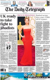 The Daily Telegraph (UK) Newspaper Front Page for 2 September 2014