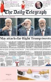 The Daily Telegraph (UK) Newspaper Front Page for 30 November 2017