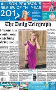 The Daily Telegraph (UK) Newspaper Front Page for 30 December 2017
