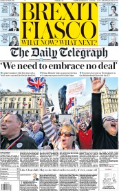 The Daily Telegraph (UK) Newspaper Front Page for 30 March 2019
