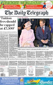 The Daily Telegraph (UK) Newspaper Front Page for 30 May 2019