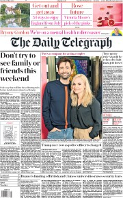 The Daily Telegraph front page for 30 May 2020