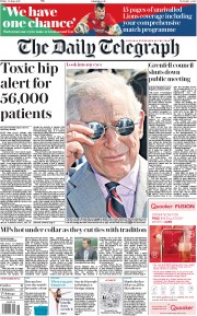 The Daily Telegraph (UK) Newspaper Front Page for 30 June 2017