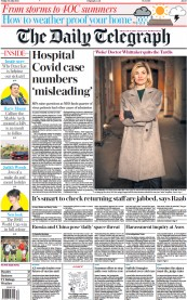 The Daily Telegraph () Newspaper Front Page for 30 July 2021