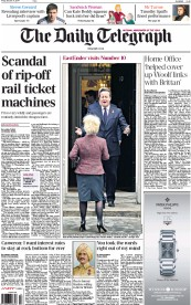 The Daily Telegraph (UK) Newspaper Front Page for 31 October 2014