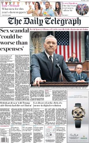 The Daily Telegraph (UK) Newspaper Front Page for 31 October 2017