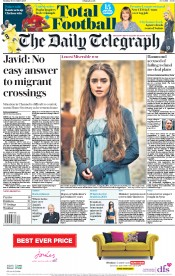 The Daily Telegraph (UK) Newspaper Front Page for 31 December 2018
