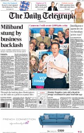 The Daily Telegraph (UK) Newspaper Front Page for 31 March 2015