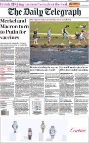 The Daily Telegraph front page for 31 March 2021