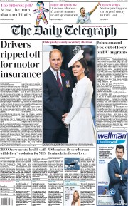 The Daily Telegraph (UK) Newspaper Front Page for 31 July 2017