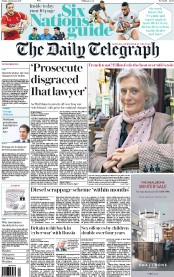 The Daily Telegraph (UK) Newspaper Front Page for 3 February 2017