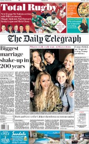 The Daily Telegraph (UK) Newspaper Front Page for 3 February 2018