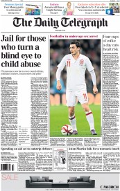The Daily Telegraph (UK) Newspaper Front Page for 3 March 2015