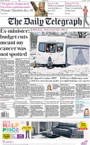 The Daily Telegraph (UK) Newspaper Front Page for 3 April 2018