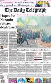The Daily Telegraph front page for 3 May 2021