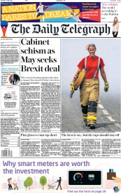 The Daily Telegraph (UK) Newspaper Front Page for 3 July 2018