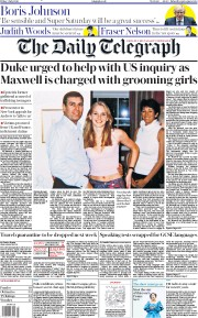 The Daily Telegraph front page for 3 July 2020