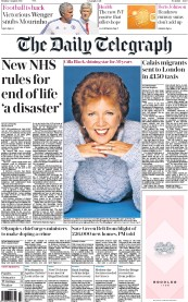 The Daily Telegraph (UK) Newspaper Front Page for 3 August 2015
