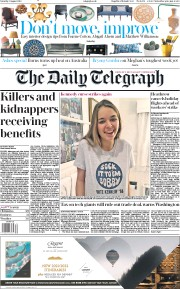The Daily Telegraph (UK) Newspaper Front Page for 3 August 2019