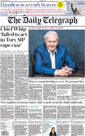 The Daily Telegraph front page for 3 August 2020