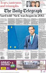 The Daily Telegraph (UK) Newspaper Front Page for 4 October 2019
