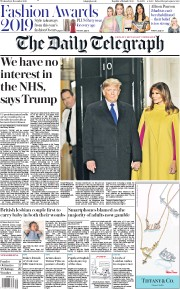 The Daily Telegraph () Newspaper Front Page for 4 December 2019