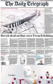 The Daily Telegraph front page for 4 December 2020