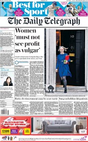 The Daily Telegraph () Newspaper Front Page for 4 February 2019