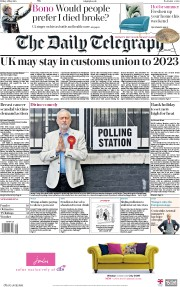 The Daily Telegraph (UK) Newspaper Front Page for 4 May 2018