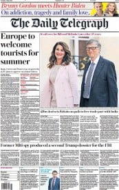 The Daily Telegraph front page for 4 May 2021
