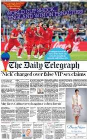 The Daily Telegraph (UK) Newspaper Front Page for 4 July 2018