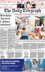 The Daily Telegraph front page for 4 August 2020