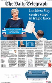 The Daily Telegraph (UK) Newspaper Front Page for 5 October 2017